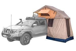 ARB Tent set up on top of truck